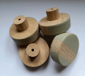 Set of 4 solid oak furniture handles
