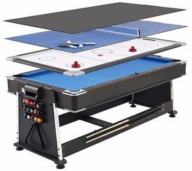 Games table- pool table, air hockey table, table tennis