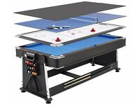 Games table- pool table, air hockey table, table tennis