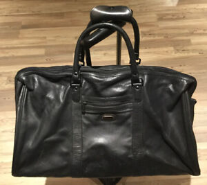 Leather Overnighter duffle luggage