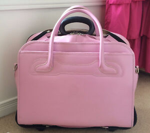 Pink Leather Briefcase/Laptop Bag