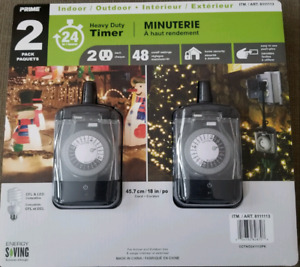 Heavy-duty Timers 2-pack