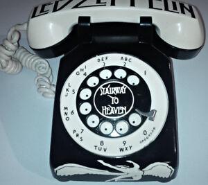 VINTAGE CUSTOM 1 OF A KIND LED ZEPPELIN ROTARY PHONE