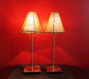 "Pair of Lamps 18"" high -(new lower price for the pair)"