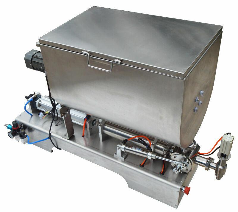 100-1000ml Liquid Paste Filling Machine Transverse Mixing Hopper Piston Filler