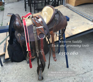 Western Saddle, Tack & grooming tools