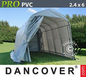 Tenda garage pro 2 4x6x2 4 m pvc capannone gazebo garage for Copertura auto richiudibile