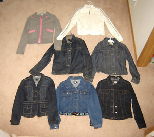 Jean Jackets, Lululemon Zip-ups, Shorts, Tops - 12, 14, Lad S, M