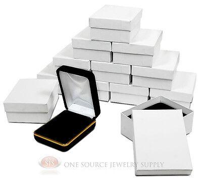 12 Piece Black Velvet Pendant Earrings Jewelry Gift Boxes 2 14 X 3 X 1 14h