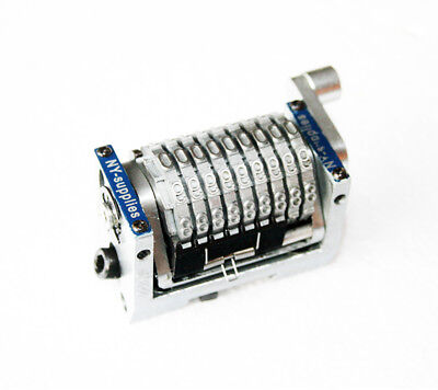 New 10 Digit - 316 Gothic Rotary Straight Numbering Machine For Heidelberg Gto