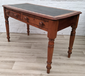 Antique Desk With Leather Skiver (DELIVERY AVAILABLE)