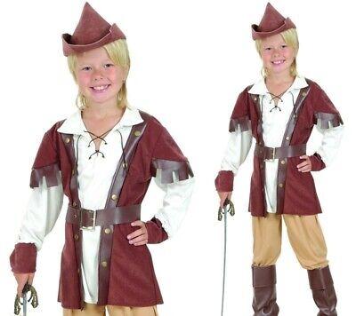 Deluxe Hunter Robin Hood Jungen Buchwoche Verkleidung Kind - Deluxe Robin Hood Kind Kostüm