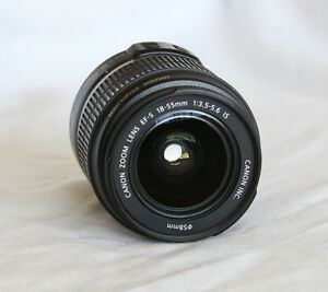 Canon EFS 18-55mm Lens with Image Stabilizer