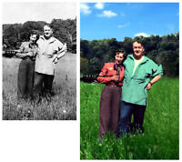 Digital Photo restorations and concepts
