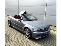 2004 54 Reg BMW M3 3.2 Convertible Grey + RED Leather + Sat Nav + Harmon +Hard/t