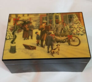 Harley Davidson Christmas Music Box