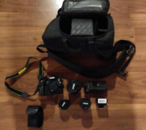 Nikon D80 + 3 Lenses and Accessories