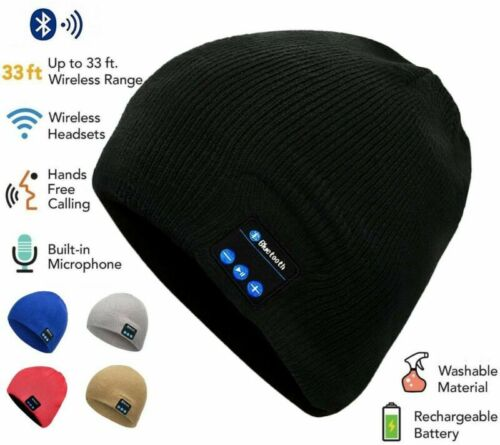 2020 Bluetooth Music Warm Beanie Hat Wireless Cap Headset Headphone Speaker Mic Cell Phone Accessories