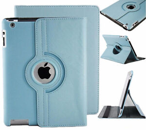 New 360 Rotating Folio Stand Smart Leather Case Cover For Apple