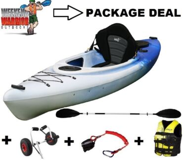 Sit in Kayak Canoe PACKAGE with Trolley, Life Jacket, Fishing + Erina Gosford Area Preview