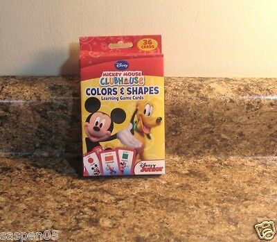 Disney Mickey Mouse Clubhouse  Flash Cards Preschool Colors And Shapes