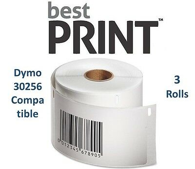 3 Rolls Of 300 Labels 2 516 X 4 For Dymo Labelwriter 30256 Compatible