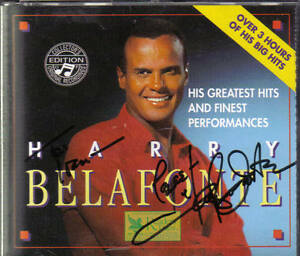 Harry Belafonte Autographed CD
