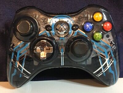 Microsoft Xbox 360 Limited Edition Halo 4 Forerunner Blue Wireless Controller