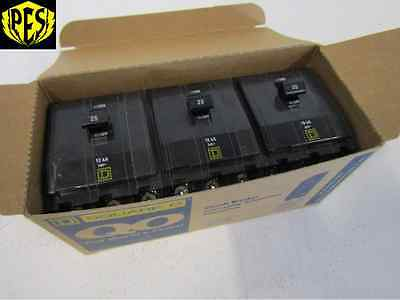 New Lot Of 3 Square D Qo325 3 Pole 25 Amp Circuit Breakers Fits Nq Nqod