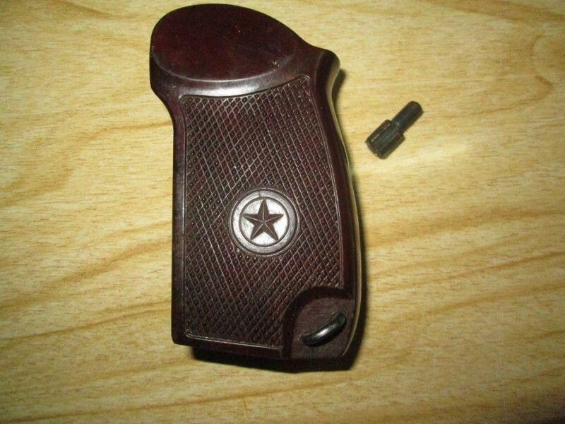 Original Russian Brown Fiber Makarov Pistol Grips With Screw USSR Weapon