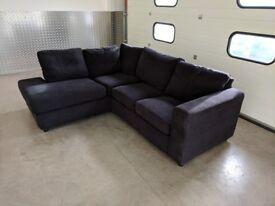 Dark Blue L-Shaped Sofa