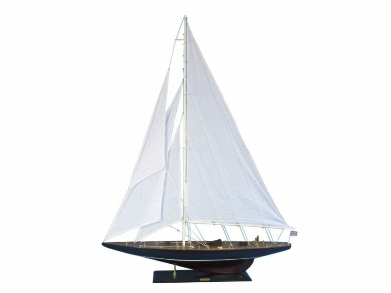 "Endeavour 60"" - Large Model Sailboat - Wooden Sailboat Model - Boat Model"