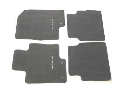 2011 HYUNDAI SONATA BLACK CARPET FLOOR MATS RUGS LINERS 2011 202014 OEM SET  #2014
