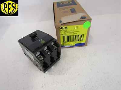 New Square D Qo Qo340 3 Pole 40 Amp Breaker 3p 40a 240v Qo Fits Nq Nib