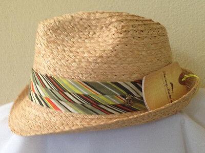 Golf Fedora (TOMMY BAHAMA SALE * MEN RAFFIA FEDORA HAT XL * GIFT NEW CRUSHABLE STRAW SUN GOLF)