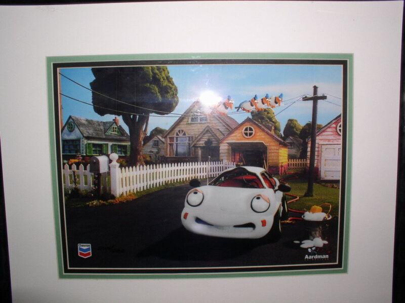 CHEVERON CAR Coke Animation Art LIMITED EDTION framed