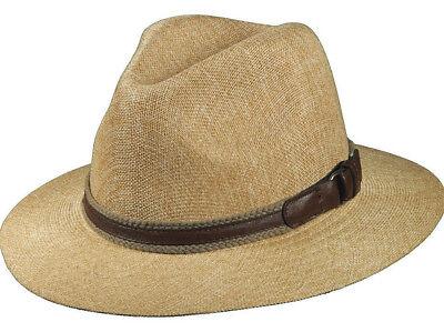 STETSON SALE * MENS FEDORA HAT * NEW SAFARI PANAMA STYLE SUN SHADY SUMMER GOLF