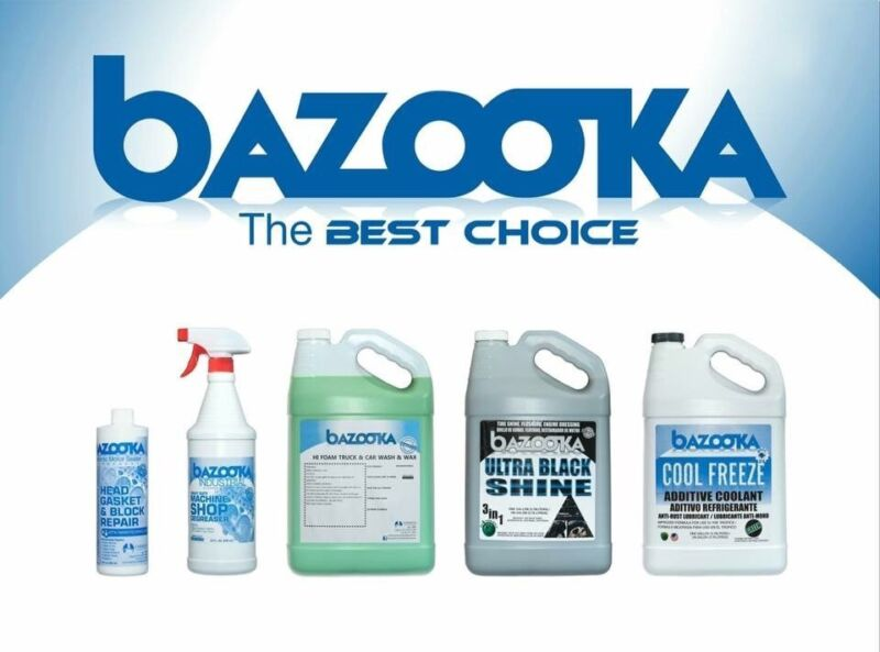 Bazooka Biodegradable Machine Shop Box Of 12 Bottles Of 32oz