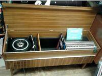 Vintage retro 1970s Ferguson Stereo Radiogram Model 3369, record player,