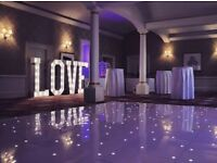 Hire our 5ft light up 'LOVE' for your special day, Add the WOW FACTOR £200