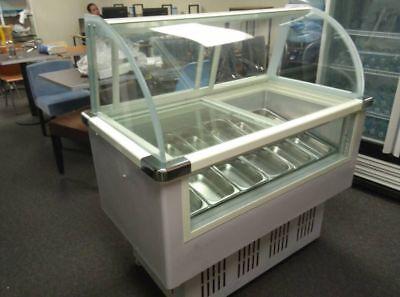 12 Pangelato Ice Cream Dipping Cabinet Freezer Display Cases Chest Free F10