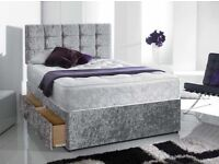 Divan Bed with Mattress and free cubed Headboard