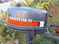 Mariner 4HP Outboard Long Shaft (Recent Service)