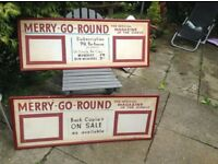 """Original advertising boards for """"Merry-go-Round"""""""