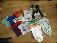 Baby boy clothes shoes bundle 9-12 months