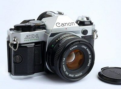 Canon AE-1 Program 35mm Film Manual Camera w/ 50mm F1.8 Lens Excellent Condition