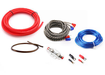 600W SoundBox 10 Ga Gauge AWG Amplifier Install Wiring Kit Amp Install Cables