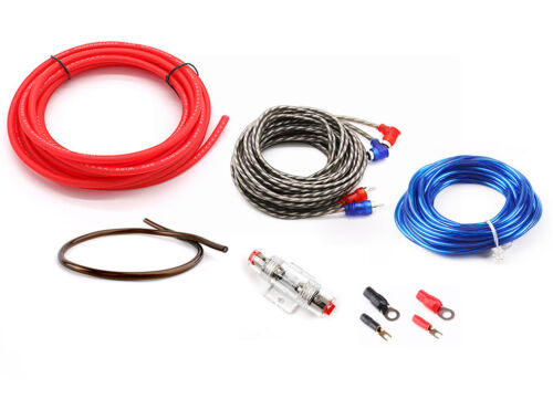 600W Car SoundBox 8 Ga Gauge AWG Amplifier Install Wiring Kit Amp Install Cables
