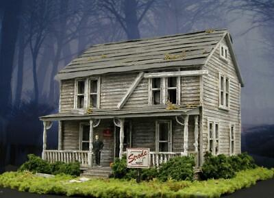 HO SCALE MICHAEL MYERS HOUSE MODEL~BUILD BUILDING~HALLOWEEN HOUSE~1:87 DIORAMA