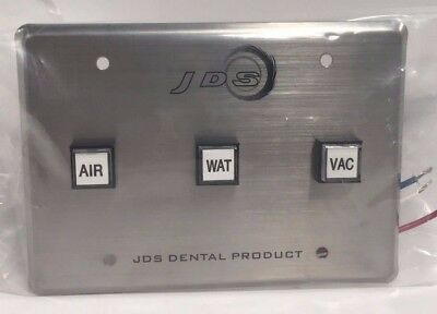 Jds Dental Products Control Panel 3 Buttons Air Water Vacuum -fda Cp3